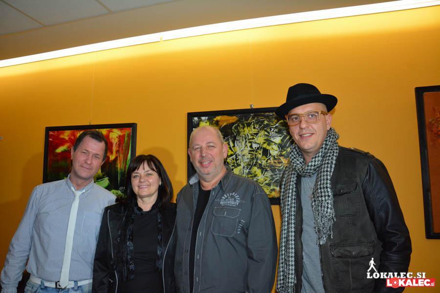 Andrej Okreša, novinar; Irena Ferk;  Rajko Ferk, slikar; 6pack Čukur, raper