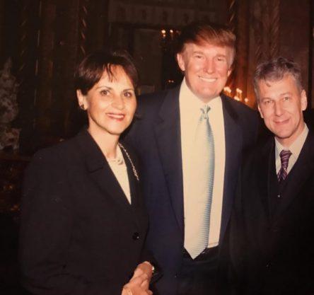 Zakonca Kračun z Donaldom Trumpom. Foto: družina Kračun.