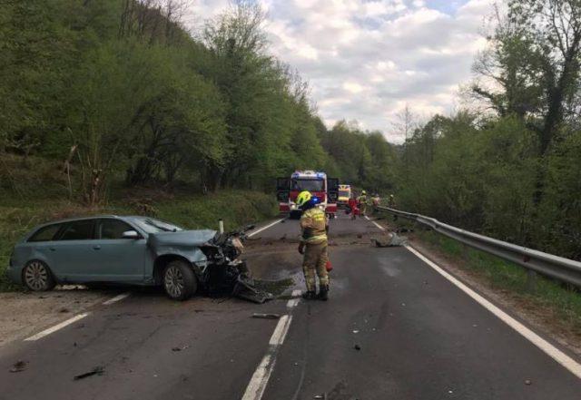 Prometna nesreča na Fali, motorist podlegel oškodbam Foto: M. Pigac