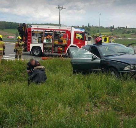 Prometna nesreča na cesti Pesnica - Lenart, Foto: Gasilska brigada Maribor