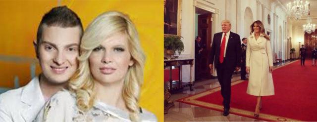 Levo: Zakonca Murko (Vir: enALifestyle) Desno: Zakonca Trump (Vir: Twitter)
