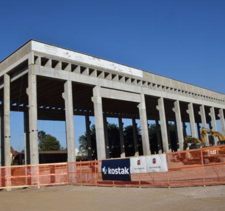 Prvi del stavbe, kjer bo delovala sortirnica.