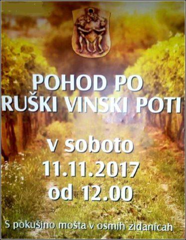 Pohod po Ruški vinski poti