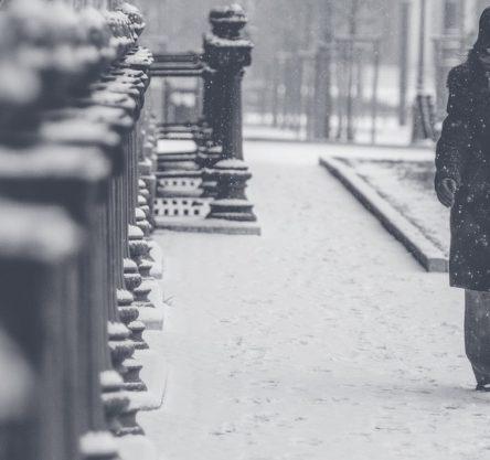 snežni metež, sneg, zasnežena ulica