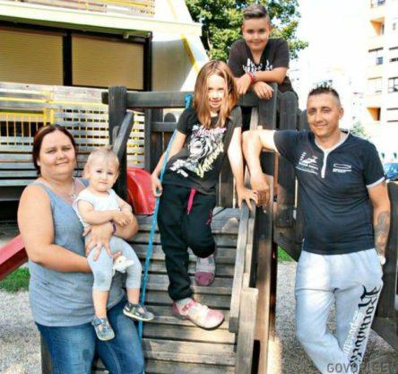 Lana z družino. Foto: Facebook Marjan Beranič