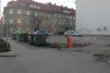 Parkirišče na vogalu Smetanove in Prežihove ulice.