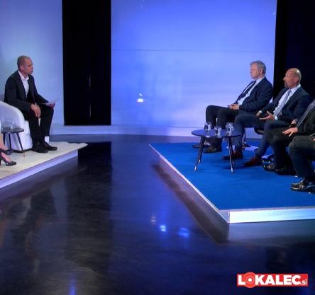 """Soočenje kandidatov za rektorja Univerze v Mariboru """"pod taktirko"""" Špele Žerjal (BK TV) in Mitje Sagaja (Večer)."""