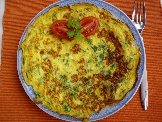 jajčna omleta z