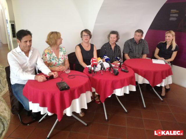 Novinarska konferenca ob uradni napovedi kandidature za županjo Maribora.