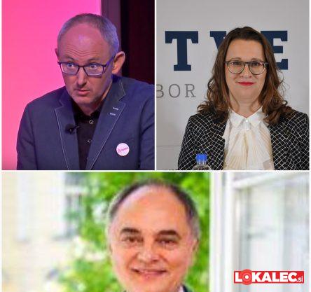 Mariborski poslanci: Franc Trček, Lidija Divjak Mirnik in Branislav Rajić.