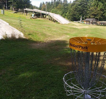 Disc Golf park na Arehu. Vir: Občina Ruše