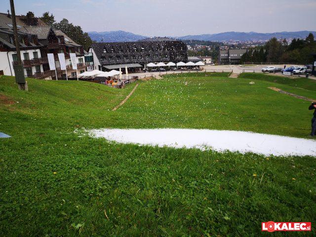Umetni sneg na Snežnem stadionu