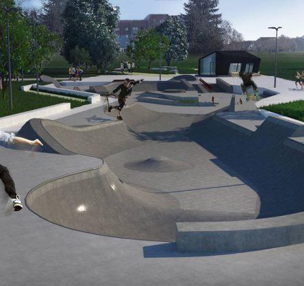 Skate park Arhiteza Snake Run