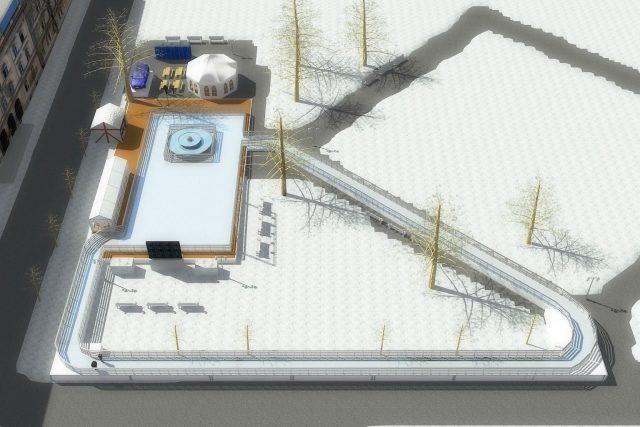 Novo drsališče pred Prvo gimnazijo Maribor