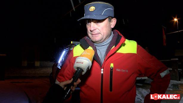 Mihael Hleb Oset, vodja intervencije požara.