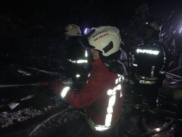 Požar uničil dom 4- članske družine. Foto: PGD Bistrica ob Dravi.