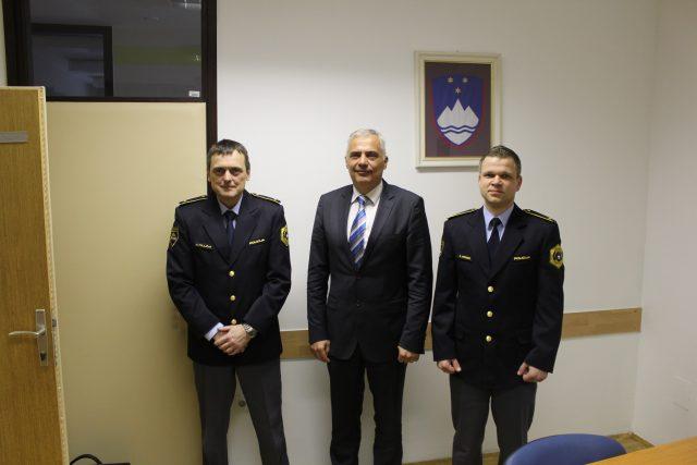 Milan Polajžar, spec., Danijel Lorbek in Simon Premzl