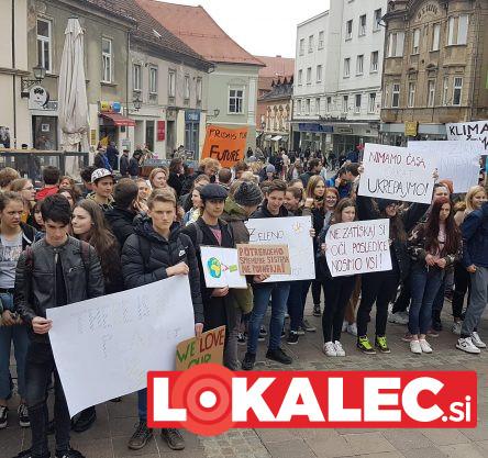Podnebni štrajk v Mariboru