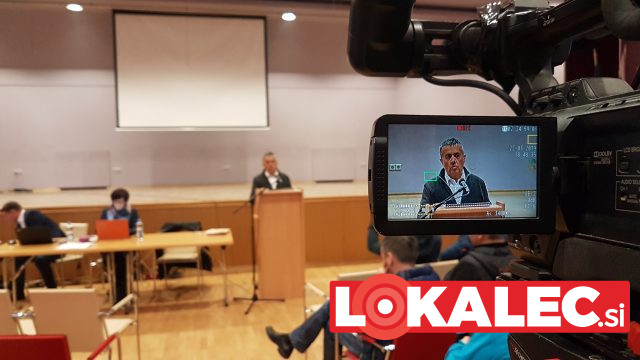 Župan Franc Pukšič na predstavitvi občinskih projektov