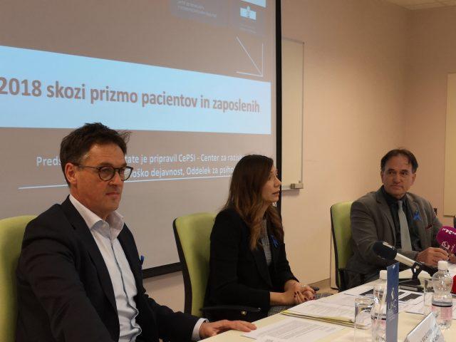 Matjaž Vogrin, Sara Tement, Vojko Flis, vir: UKC Maribor