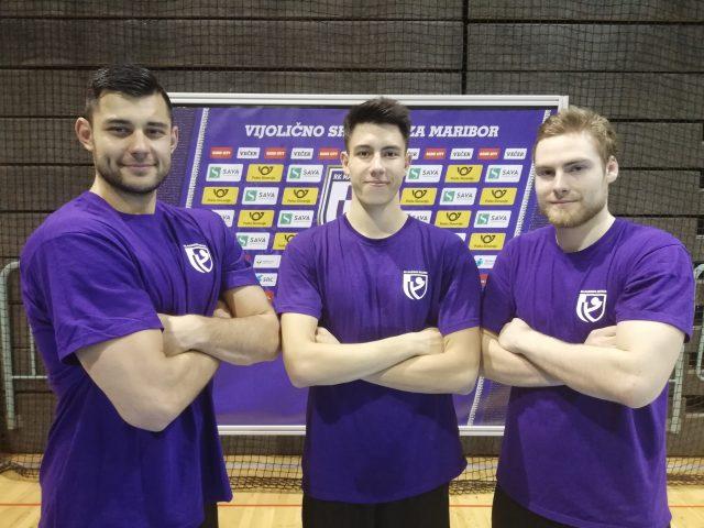 Iulian Jerebie, Nejc Planinšek in Andraž Velkavrh FOTO: RK Maribor Branik