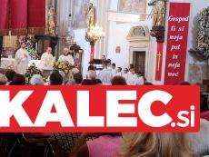 Blagoslov na kvatrno nedeljo v cerkvi Svete Trojice