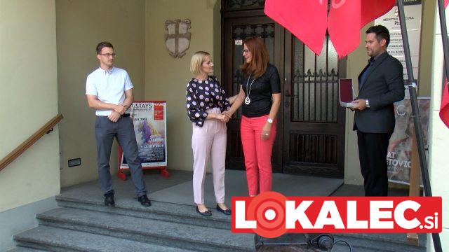 Ptujska županja Nuška Gajšek in ministrica za pravosodje Andreja Katič