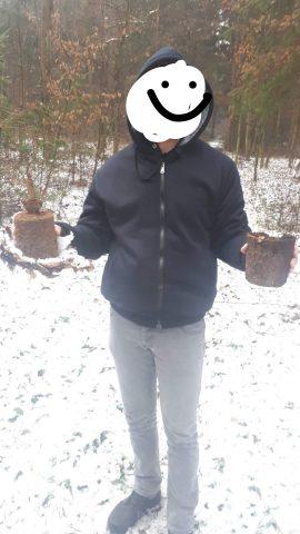 Najdba NUS v gozdu med Miklavžem in Mariborom. Vir Facebook