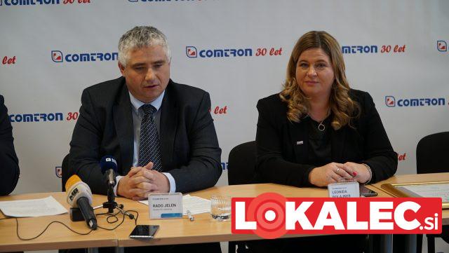 direktor PCI - Comtron Rado Jelen in Leonida Polajnar, dir. Območne Obrtno-Podjetniške zbornice Maribor